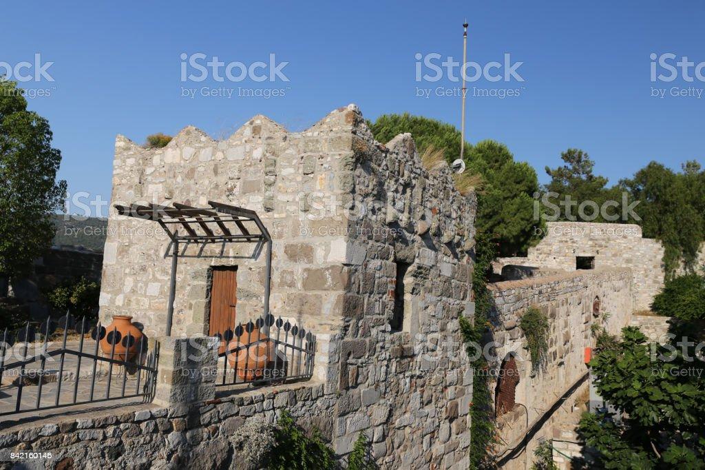Building in Bodrum Castle stock photo