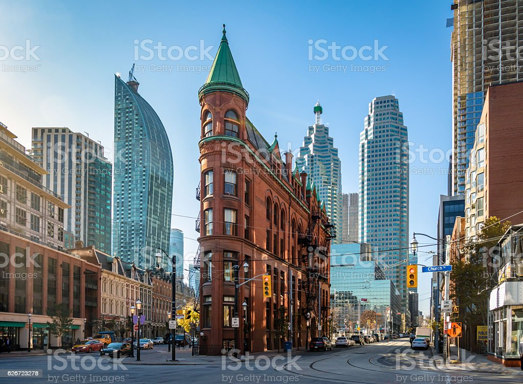 Building in downtown Toronto - Ontario, Canada stock photo