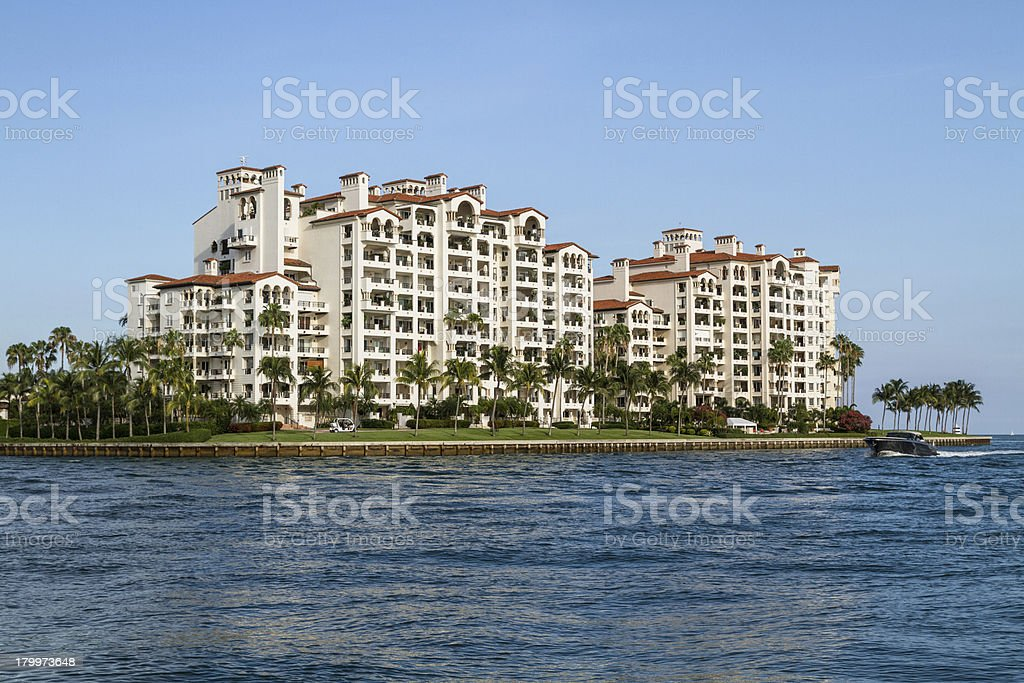 Building in Fisher Island royalty-free stock photo