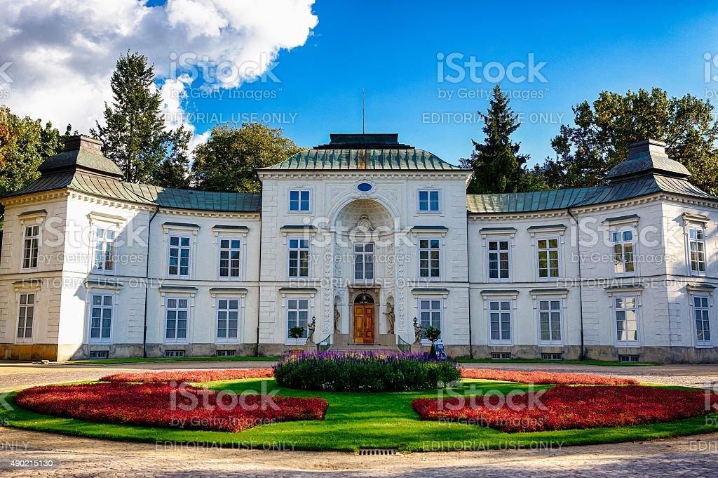 Building in Lazienki Park in Warsaw stock photo