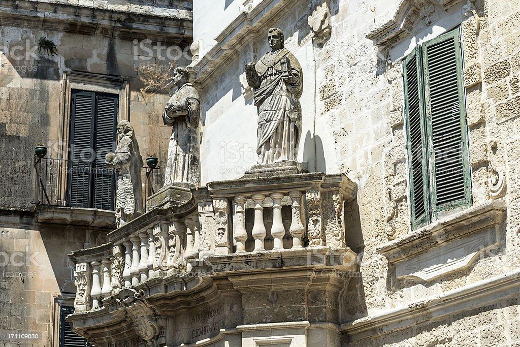 Building in Lecce, Apulia, Italy stock photo
