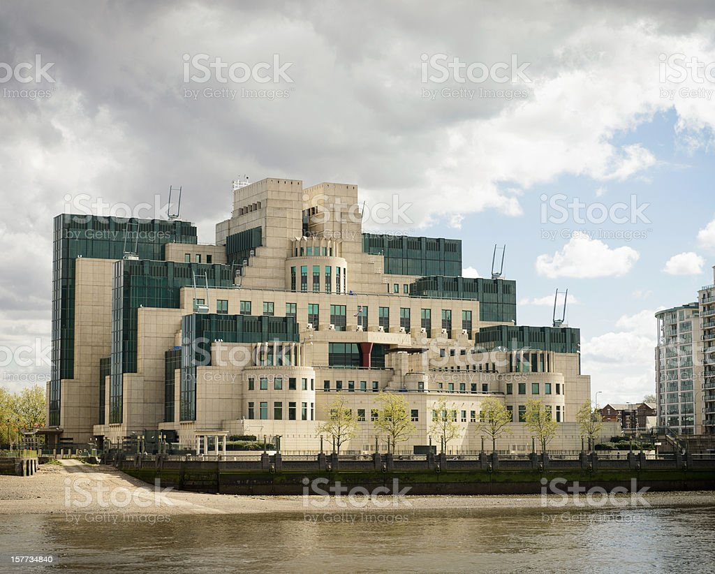 SIS (Secret Intelligence Service or MI6) Building in London stock photo