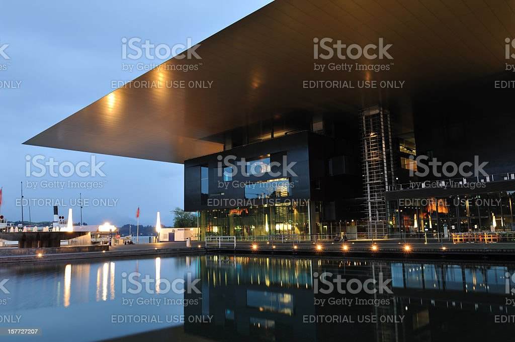 KKL building in Luzern stock photo