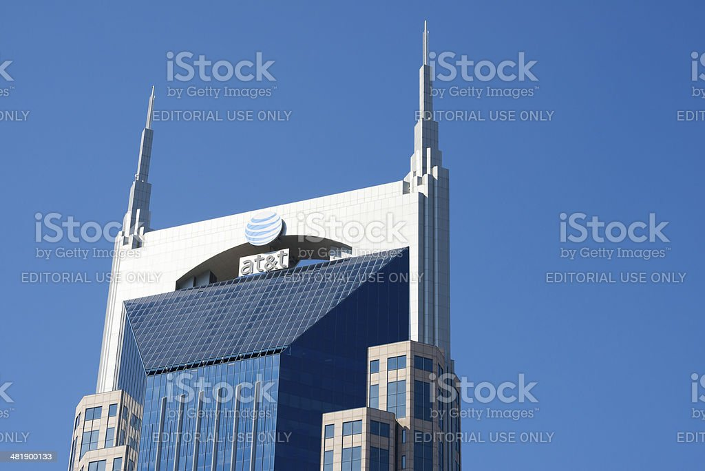 AT&T Building in Nashville Tennessee stock photo