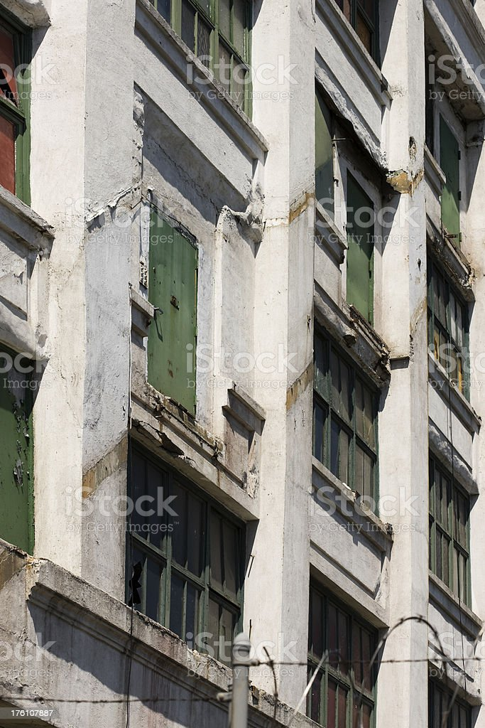 Building in New York City with Doors Leading to Nowhere stock photo