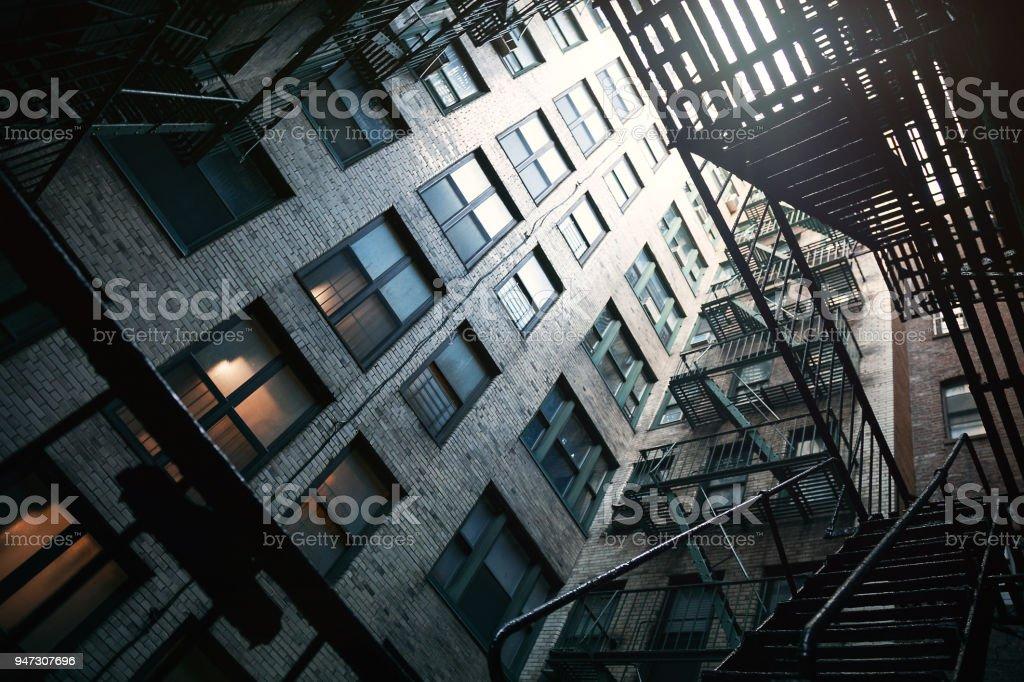 Building in New York - Fire escape