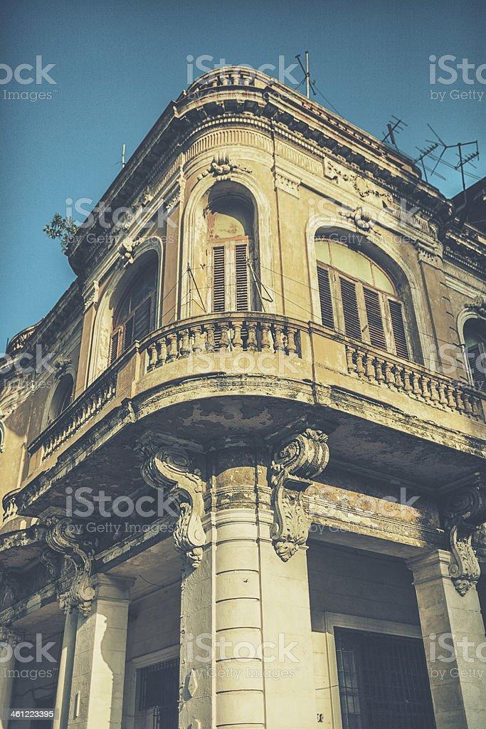Building in old Havana stock photo