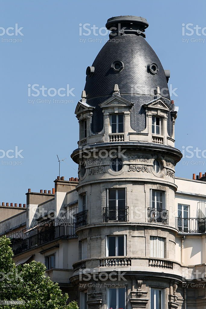 Building in Paris, France royalty-free stock photo