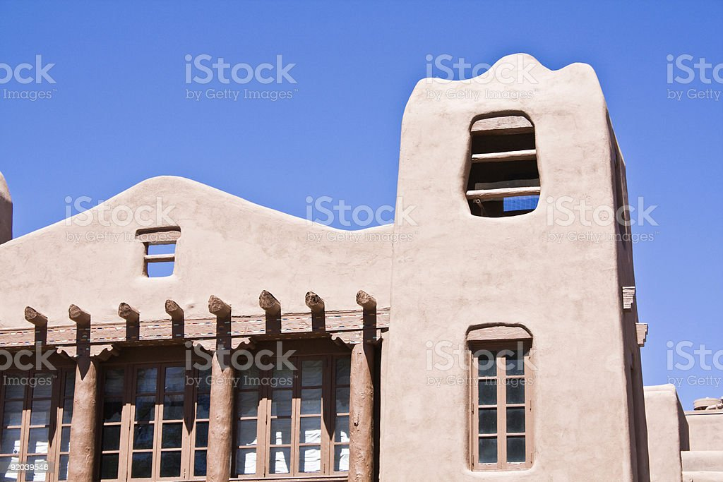 Building in Santa Fe royalty-free stock photo