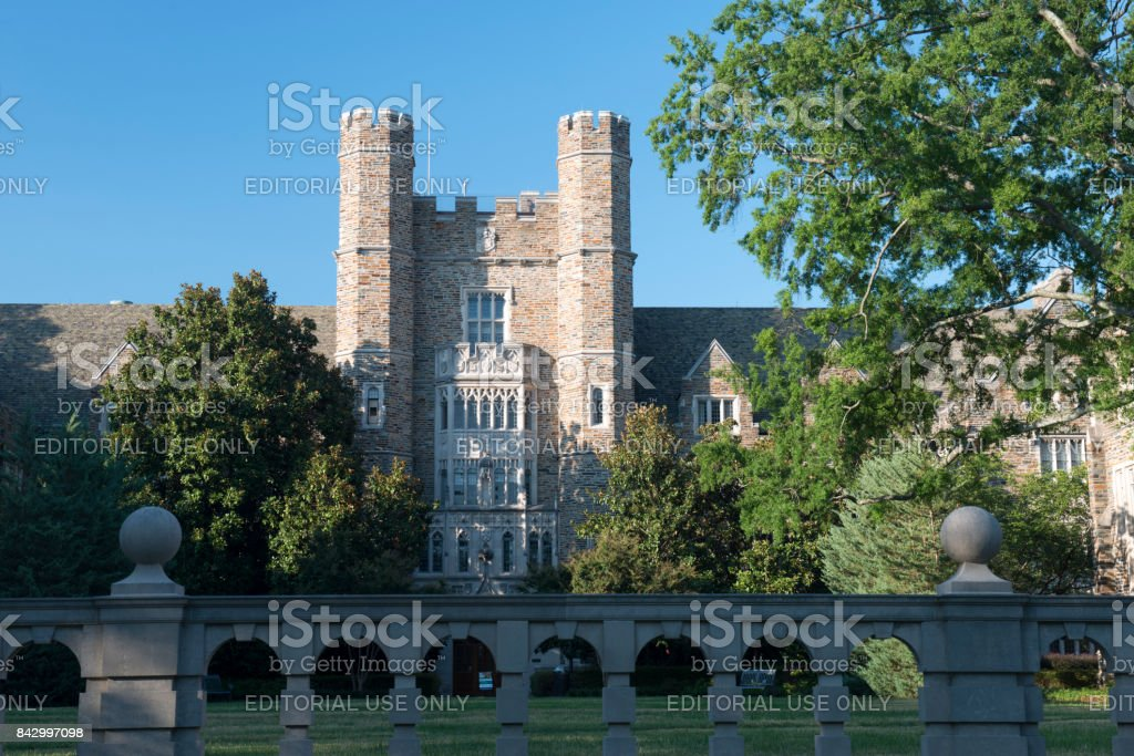 Building in the campus of Duke University stock photo