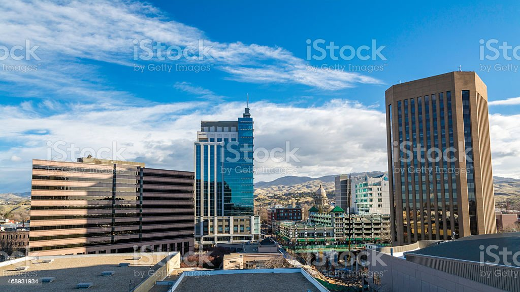 Building in the centy center of Boise Idaho stock photo