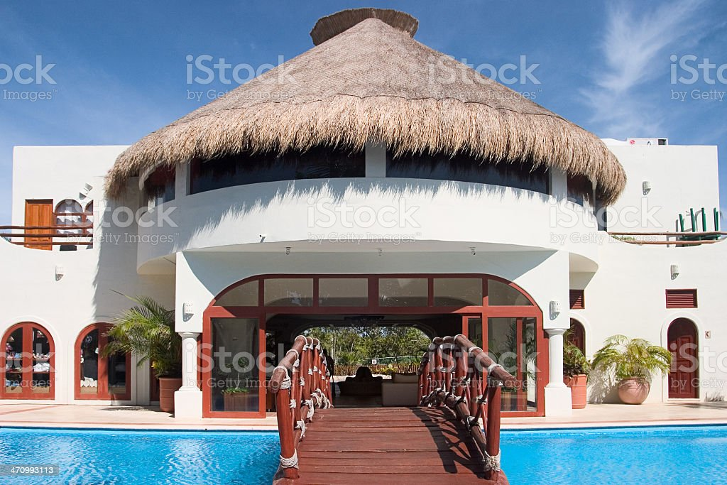 Building in tropics royalty-free stock photo