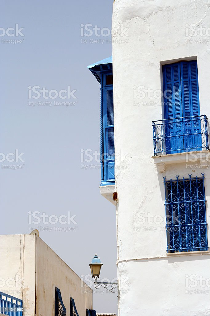 Building in Tunis at summer 2007 royalty-free stock photo