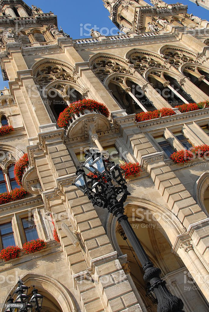 Building in Vienna with flowers royalty-free stock photo