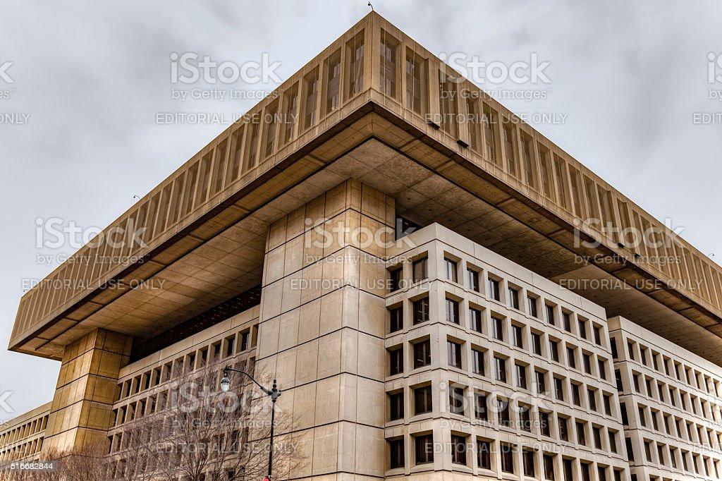 FBI building in Washington DC stock photo
