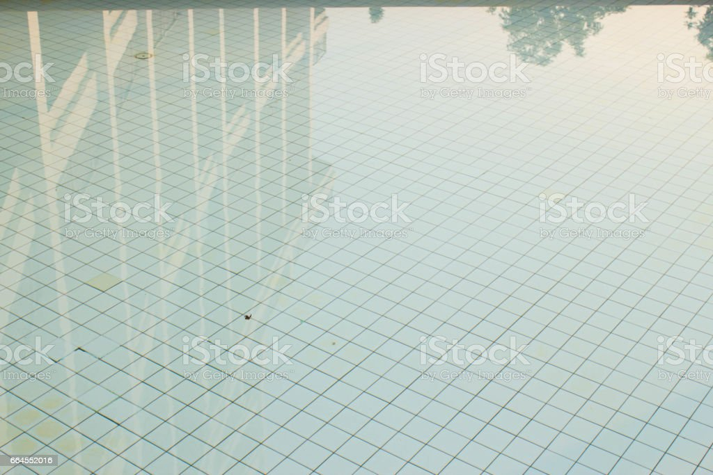 building inflection in swimming pool royalty-free stock photo