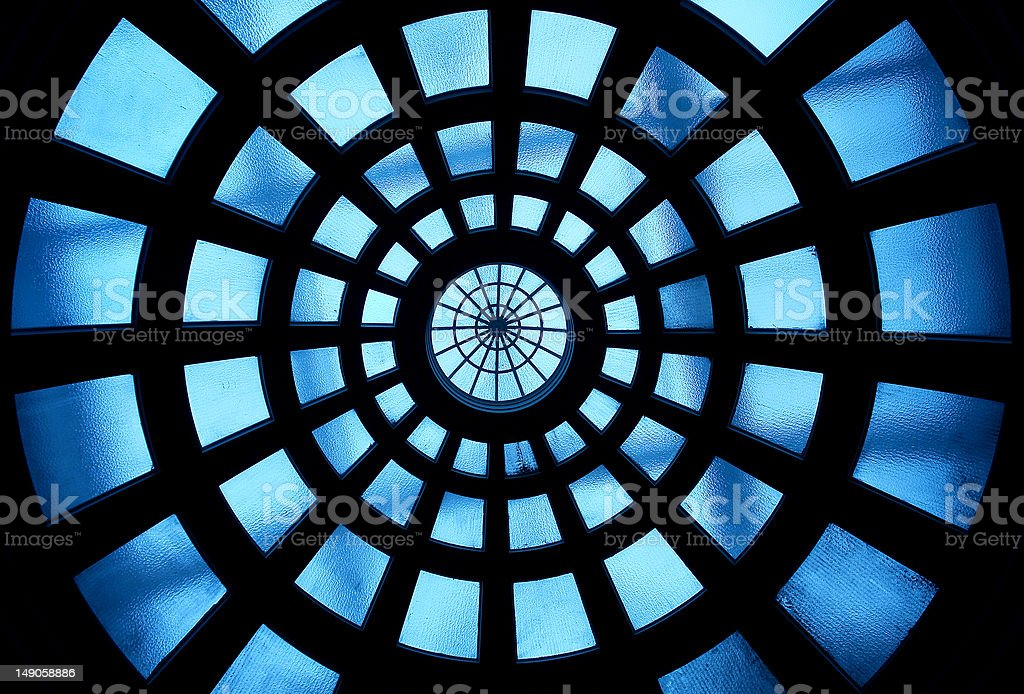 Building inside glass ceiling royalty-free stock photo