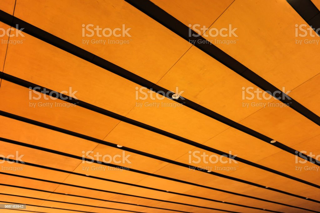 Building interior with battens and lamps - Royalty-free Architecture Stock Photo