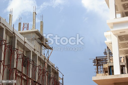 istock Building is under construction on sky background. 844194716