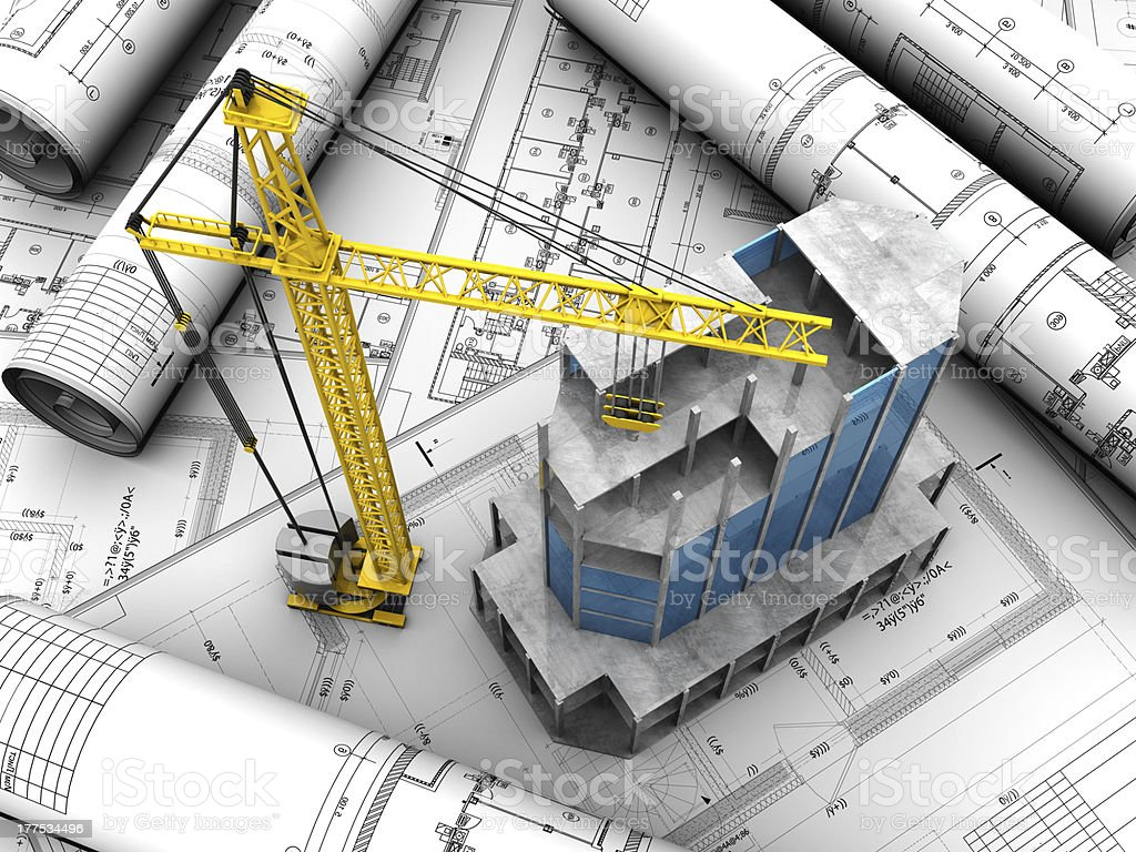 Building layout royalty-free stock photo