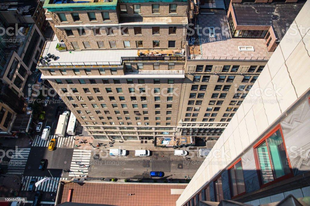 NYC Building Ledge stock photo