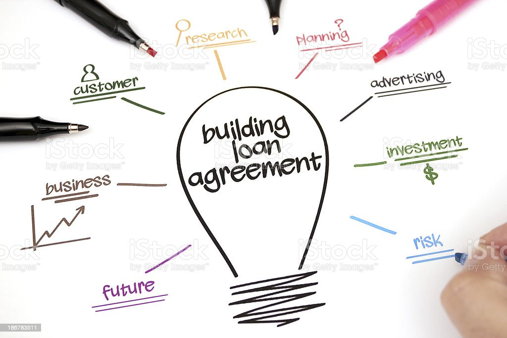 Building loan agreement royalty-free stock photo