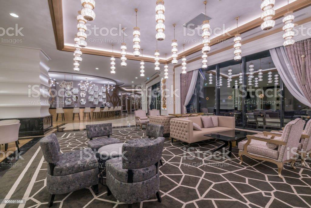 Building Lobby bar stock photo
