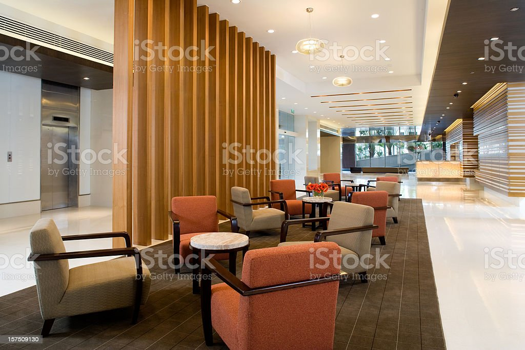 Building Lobby stock photo