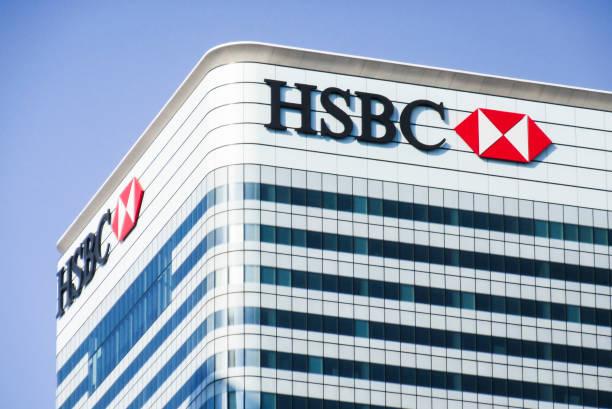 Edificio HSBC, Londres - foto de stock