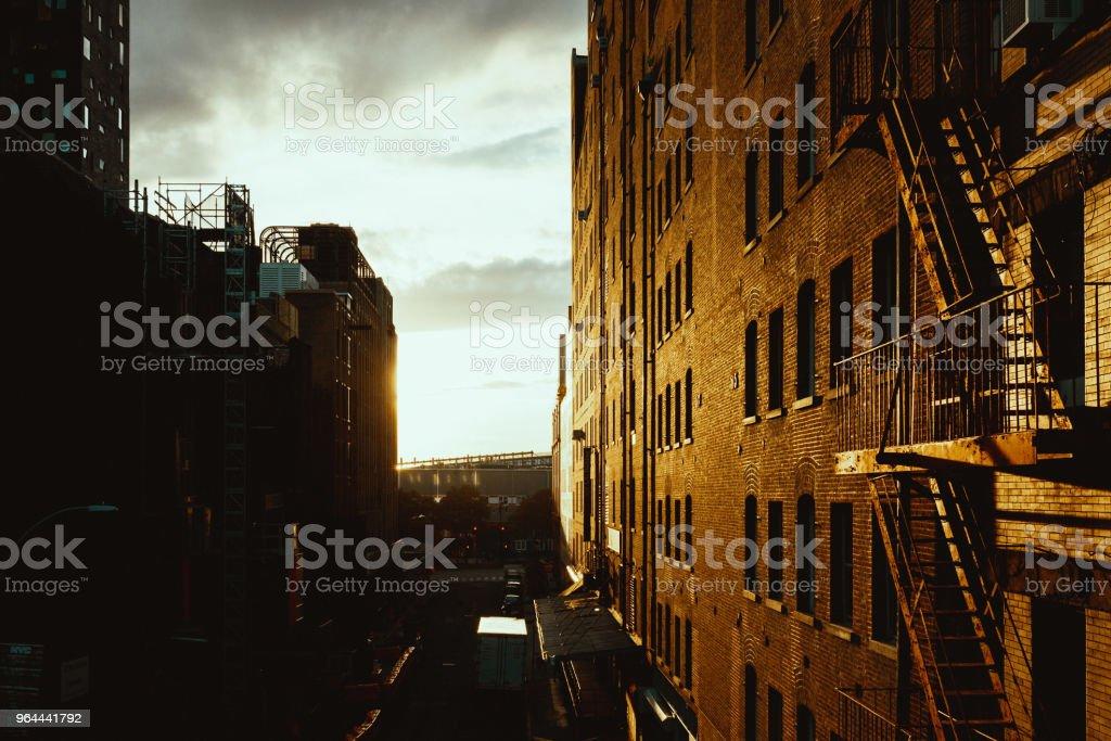 Edifício Manhattan, Nova Iorque - Foto de stock de Alto - Descrição Geral royalty-free