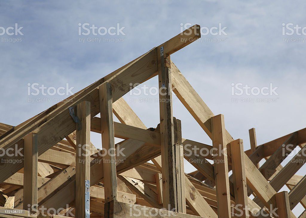 building new house royalty-free stock photo