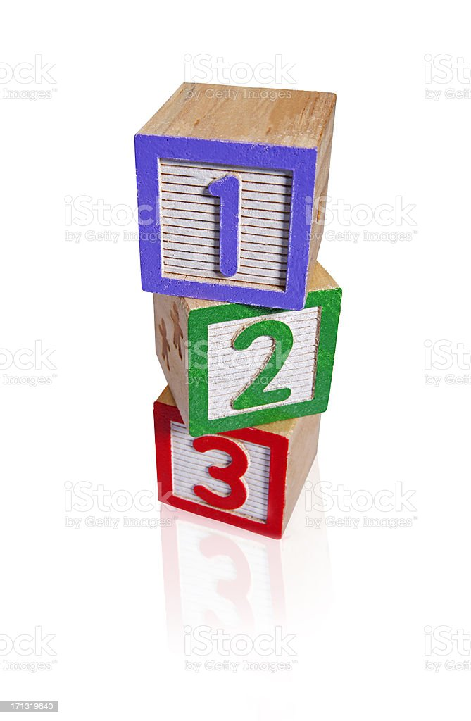 Building numbers Blocks (clipping paths) royalty-free stock photo