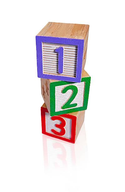 gebäude zahlen blocks (schneidepfade - mathematik 3. klasse stock-fotos und bilder