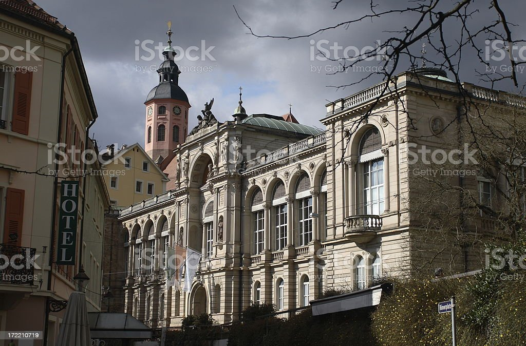 Building of a Thermal Spa royalty-free stock photo