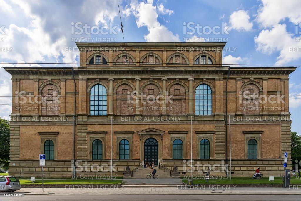 Building of Alte Pinakothek (Art Museum), Old Master paintings museum in Kunstareal, Munich. stock photo