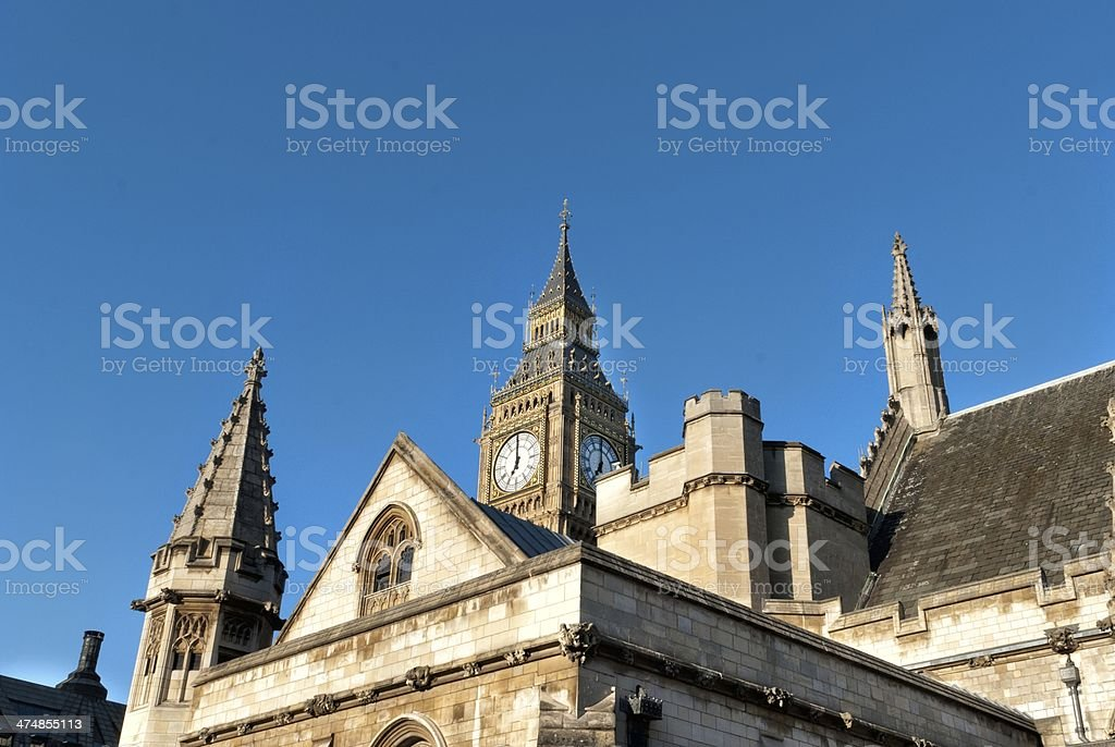 Building of British Parliament royalty-free stock photo
