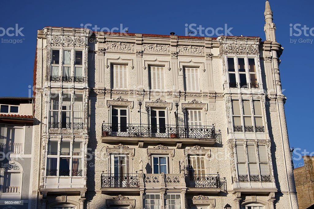 Building of Castro Urdiales royalty-free stock photo