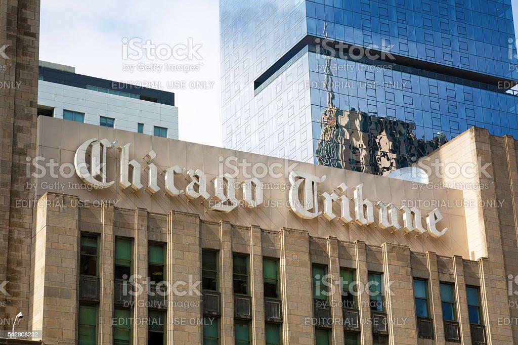 Building of Chicago Tribune stock photo