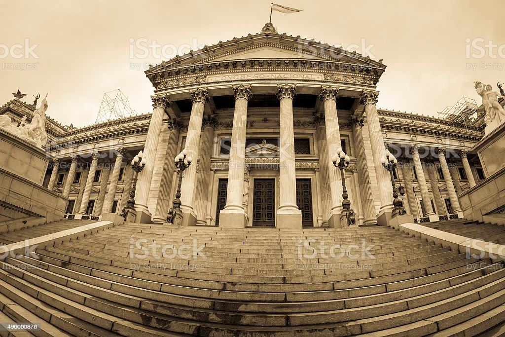 Building of Congress in Buenos Aires, Argentina stock photo