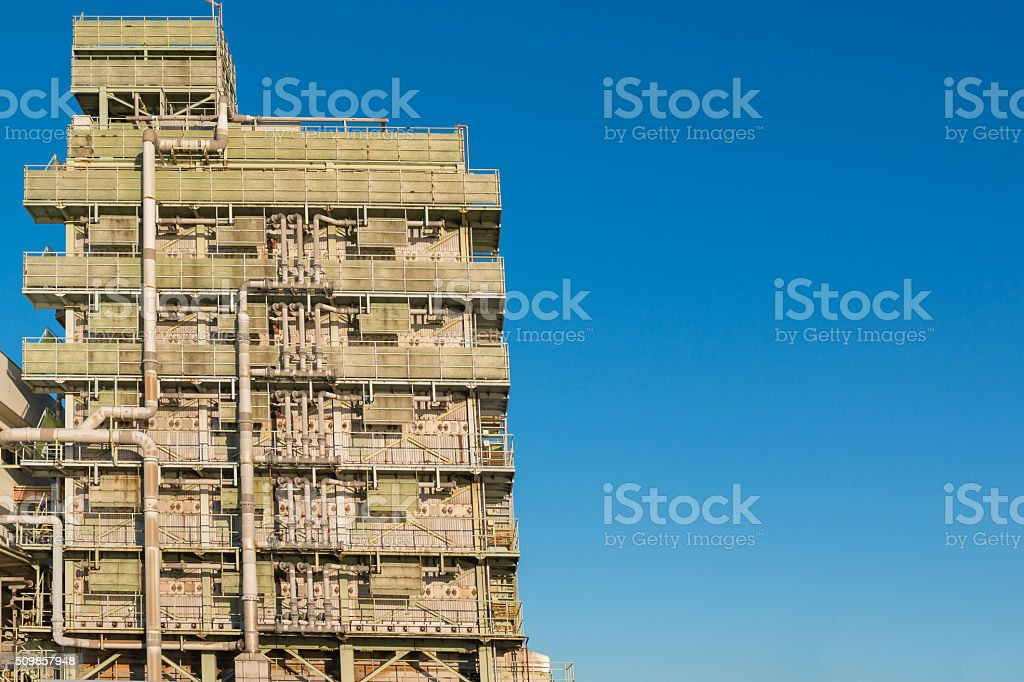 Building of department of water Supply. stock photo