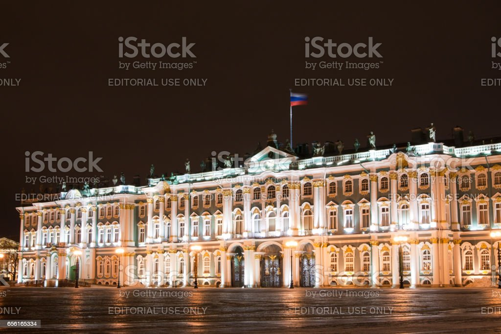 ST. PETERSBURG - January 11: building of General staff on Palace square, January 11, 2011, in town St. Petersburg, Russia. stock photo