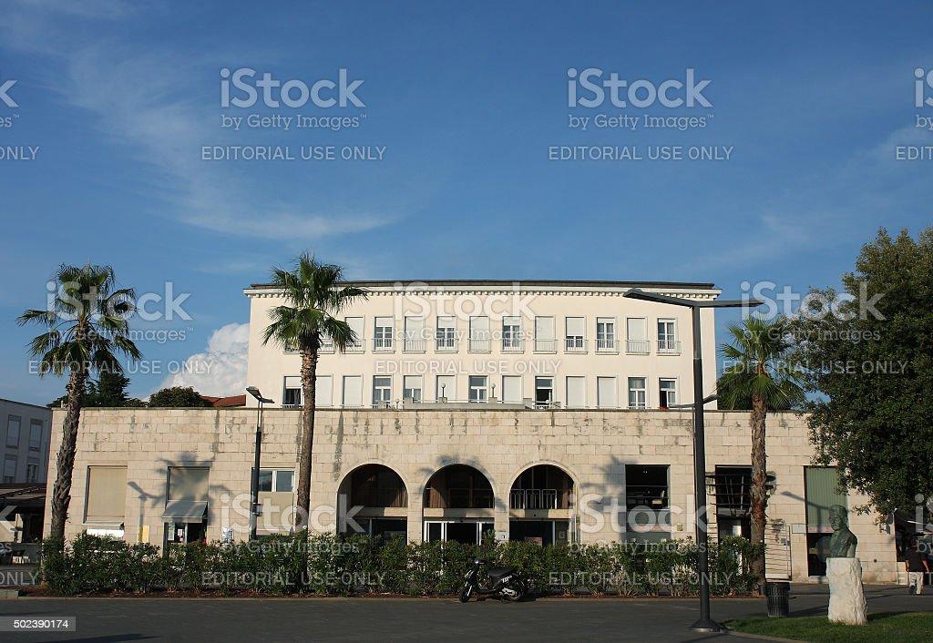 Building of hotel in Koper in Slovenia stock photo