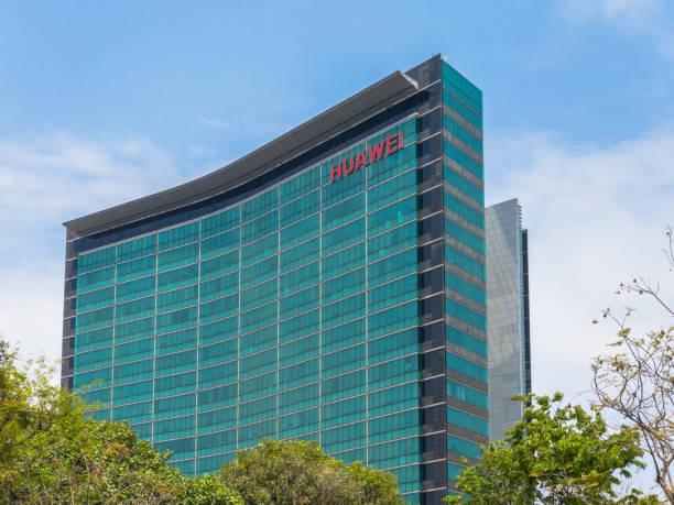 r&d building of huawei headquarters in shenzhen - huawei foto e immagini stock