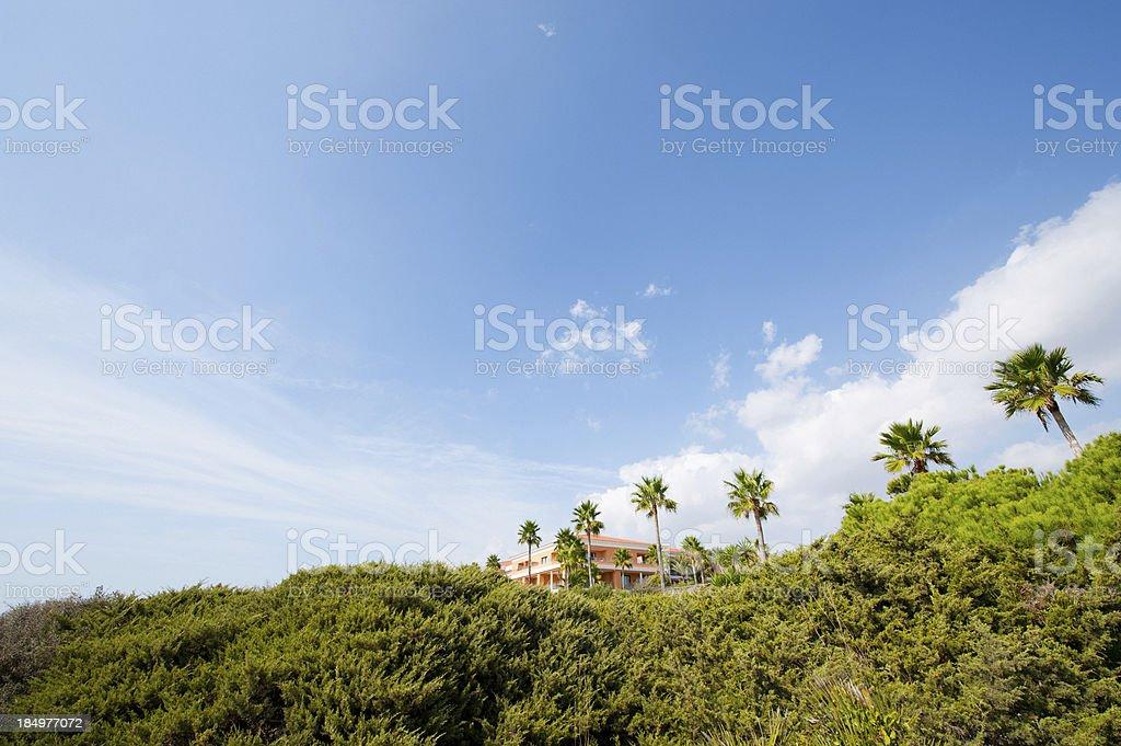 Building of luxury hotel stock photo