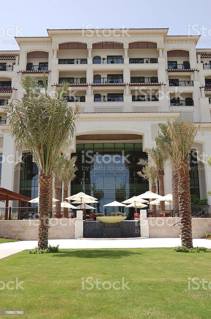 Building of luxury hotel, Saadiyat island, Abu Dhabi, UAE stock photo
