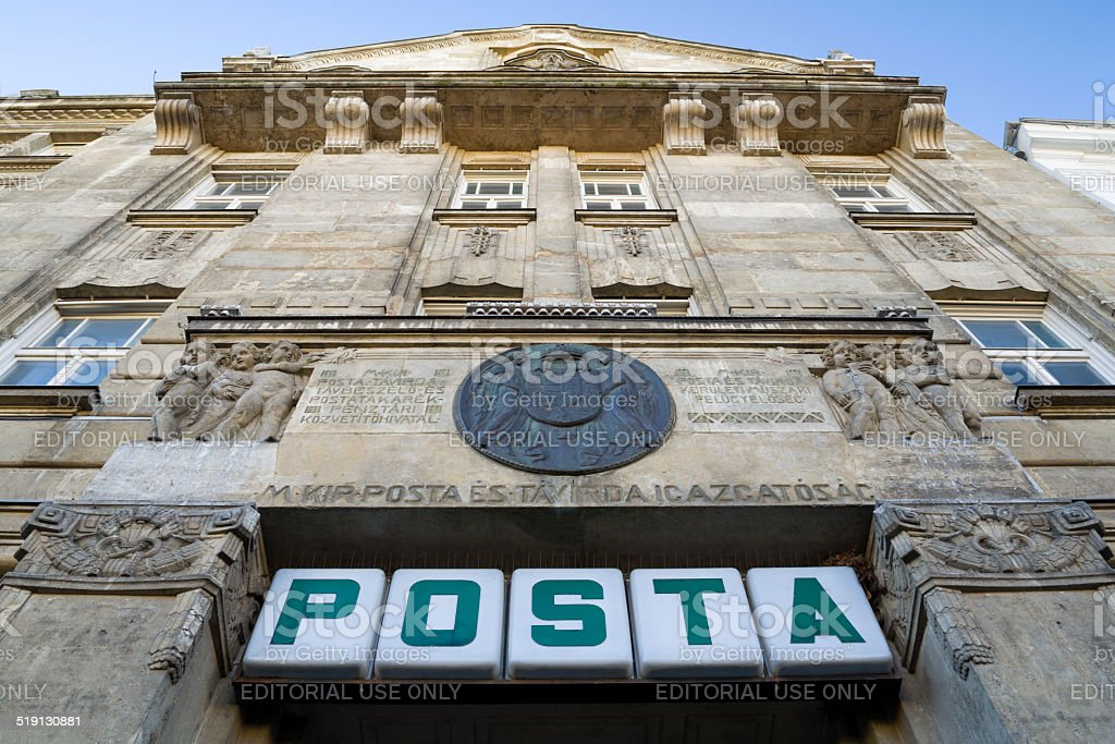 Building of Main Post Office in Sopron stock photo