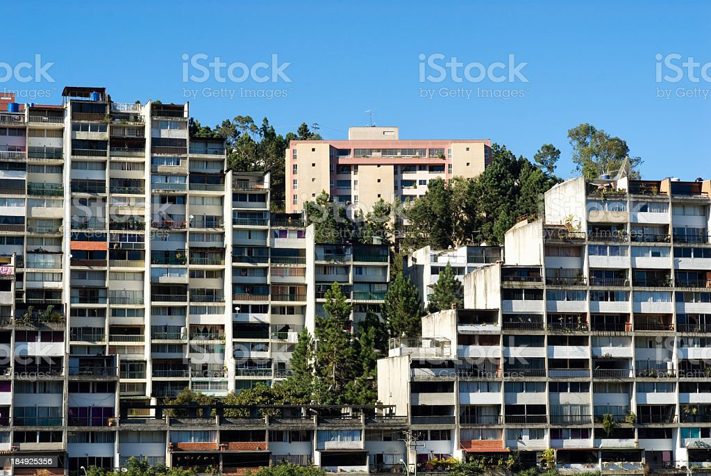 Building of middle class people. royalty-free stock photo