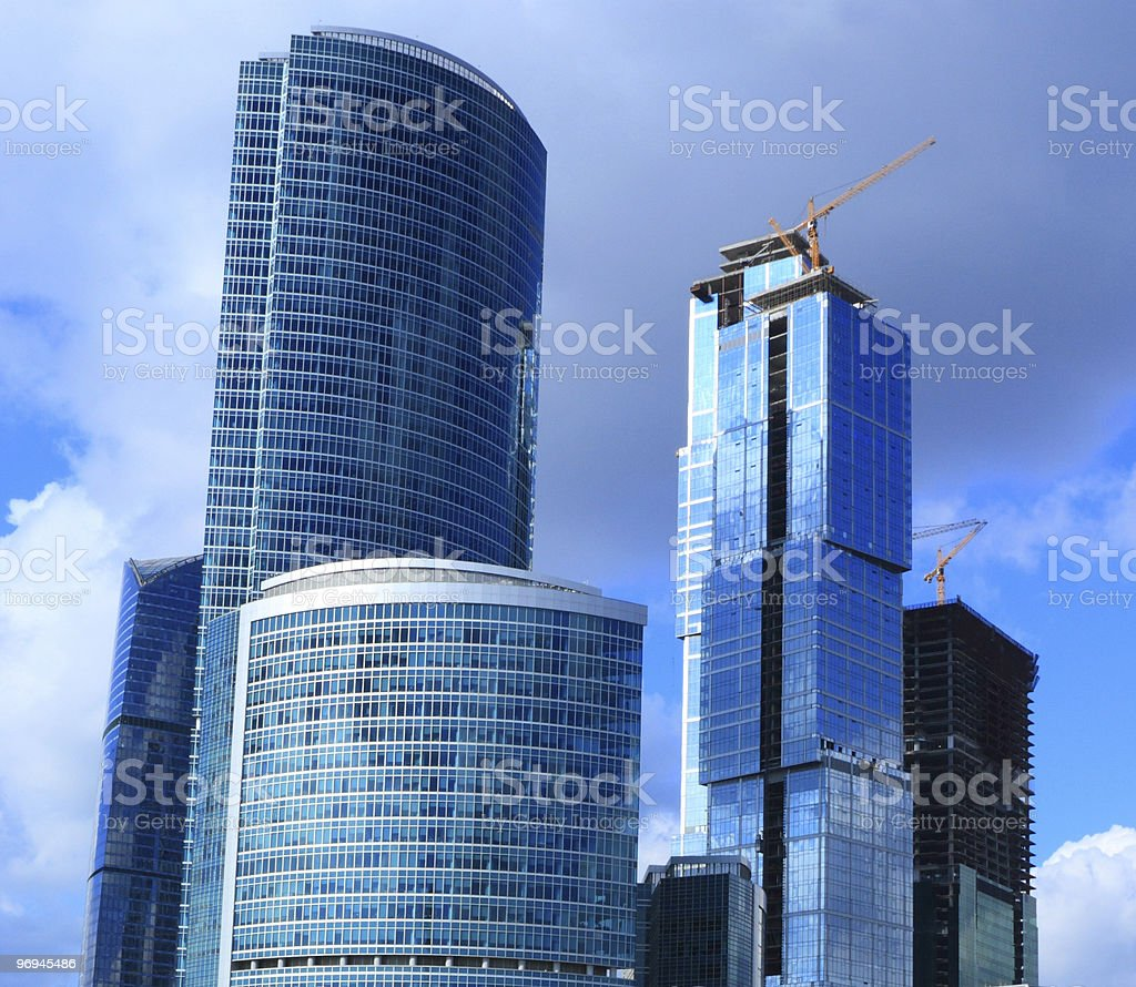 Building of new business-center royalty-free stock photo