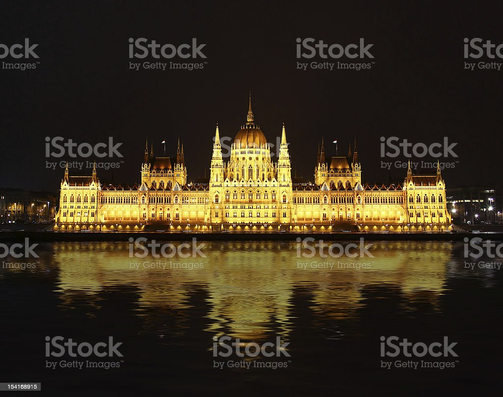 Building of Parliament, Budapest royalty-free stock photo