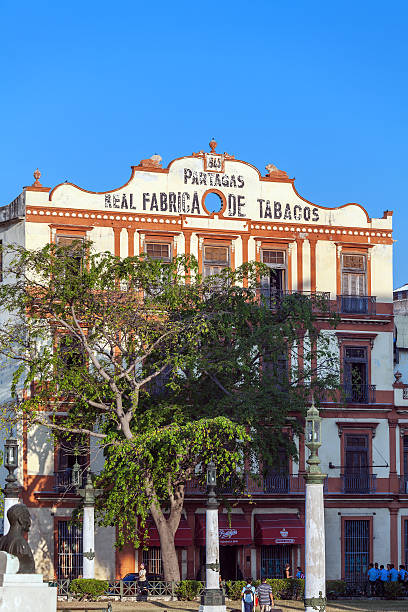 Building of Partagas, one of the oldest cigars brand, factory stock photo